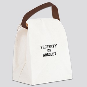 Property of ABSOLUT Canvas Lunch Bag