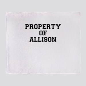 Property of ALLISON Throw Blanket