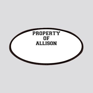 Property of ALLISON Patch