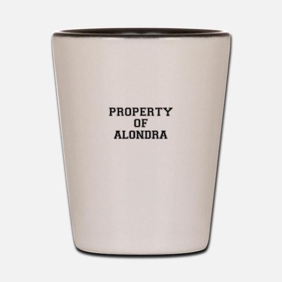 Property of ALONDRA Shot Glass
