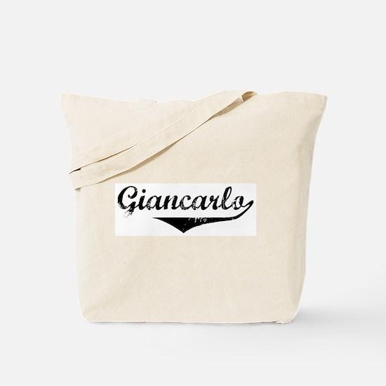 Giancarlo Vintage (Black) Tote Bag