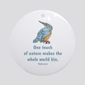 Shakespeare Nature & Peace Quote Ornament (Round)