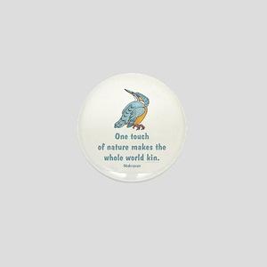 Shakespeare Nature & Peace Quote Mini Button