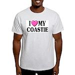 I Love ( Heart ) My Coastie Ash Grey T-Shirt