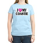 I Love ( Heart ) My Coastie Women's Pink T-Shirt
