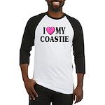 I Love ( Heart ) My Coastie Baseball Jersey