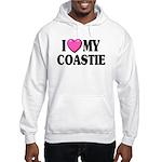 I Love ( Heart ) My Coastie Hooded Sweatshirt
