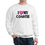 I Love ( Heart ) My Coastie Sweatshirt
