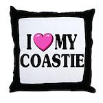 I Love ( Heart ) My Coastie Throw Pillow