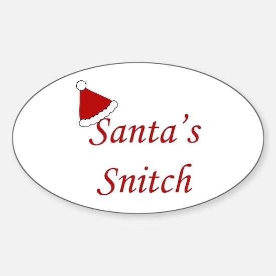 Santa's Snitch Oval Decal