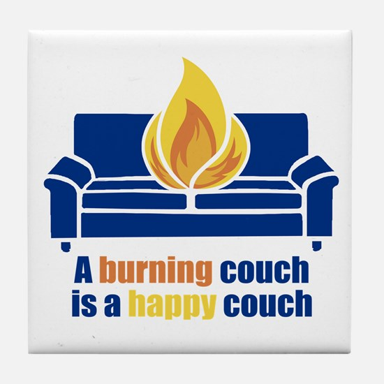 Happy Couch Tile Coaster