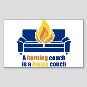 Happy Couch Rectangle Sticker
