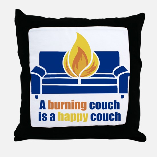 Happy Couch Throw Pillow