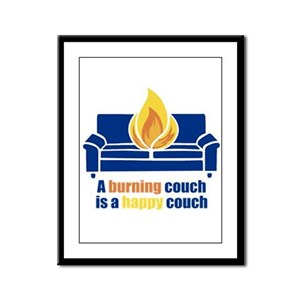 Happy Couch Framed Panel Print