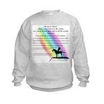 Rainbow Native American Kids Sweatshirt