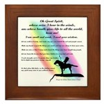Rainbow Native American Framed Tile