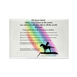 Rainbow Native American Rectangle Magnet (100 pack