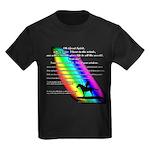 Rainbow Native American Kids Dark T-Shirt
