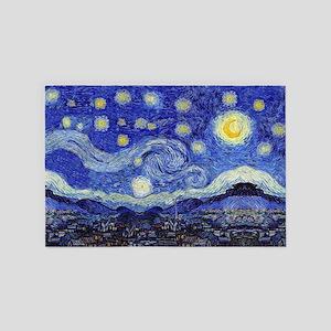Starry Night Inspiration 4' x 6' Rug