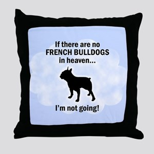French Bulldogs In Heaven Throw Pillow