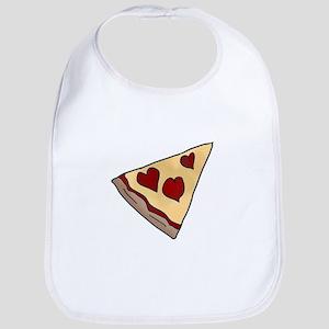Piece of My Heart Pizza Slice Matching Baby Bib