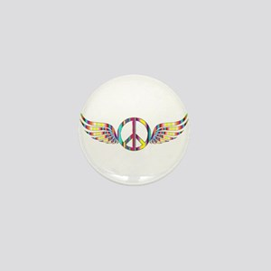 Peace with Wings Mini Button