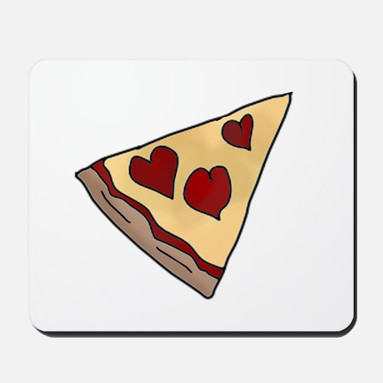 Piece of My Heart Pizza Slice Matching Mousepad