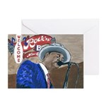 New Orleans Blues Greeting Cards (Pk of 20)