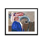 New Orleans Blues Framed Panel Print