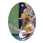 Street Musicians French Quarter Oval Ornament