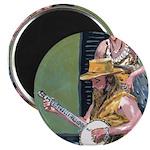 "Street Musicians French Quarter 2.25"" Magnet (10 p"