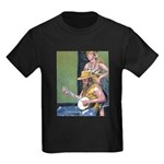Street Musicians French Quarter Kids Dark T-Shirt