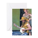 Street Musicians French Quarter Greeting Card