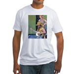 Street Musicians French Quarter Fitted T-Shirt