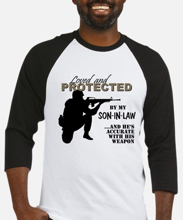 Loved  Protected SonInLaw Baseball Jersey