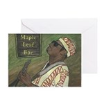 New Orleans Guitar Player Greeting Card
