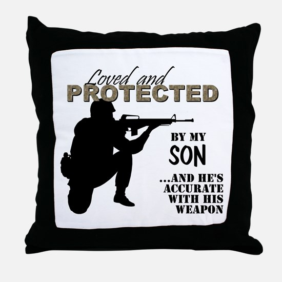 Unique Military dad Throw Pillow