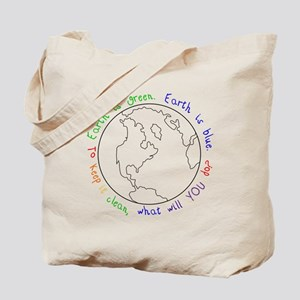Colorable Earth is Green Tote Bag