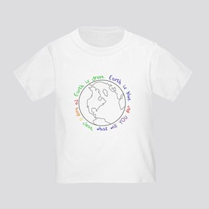 Colorable Earth is Green Toddler T-Shirt