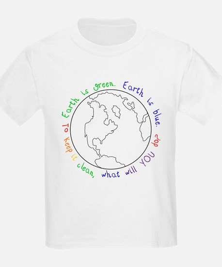 Colorable Earth is Green Kids T-Shirt