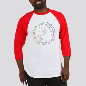 Colorable Earth is Green Baseball Jersey