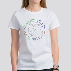 Colorable Earth is Green Women's T-Shirt