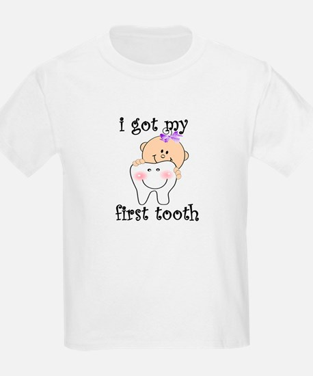 First Tooth Girl T-Shirt