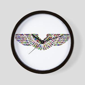 Chromatic Rainbow Angel Wings Wall Clock