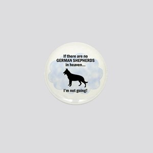 German Shepherds In Heaven Mini Button