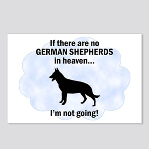 German Shepherds In Heaven Postcards (Package of 8