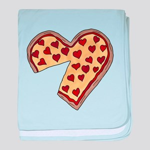 Piece of My Heart Pizza Matching baby blanket