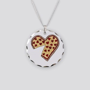 Piece of My Heart Pizza Matc Necklace Circle Charm