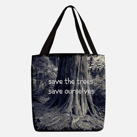 Save The Trees Polyester Tote Bag