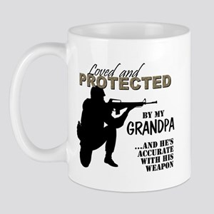 Loved  Protected Grandpa Mugs